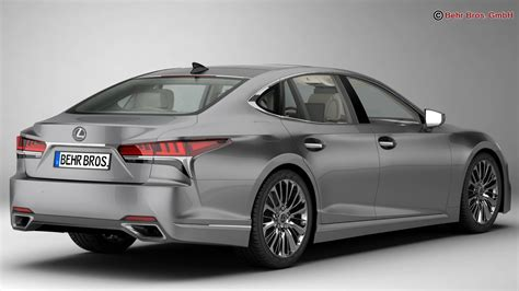 lexus model lexus ls 500 2018 3d model buy lexus ls 500 2018 3d