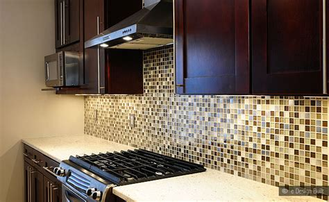 glass mosaic tile kitchen backsplash brown beige glass metal mix backsplash tile backsplash