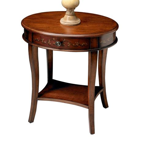 oval accent table cherry accent table powell shelburne cherry accent table