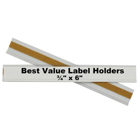 c line best value peel stick shelf bin label holders 3