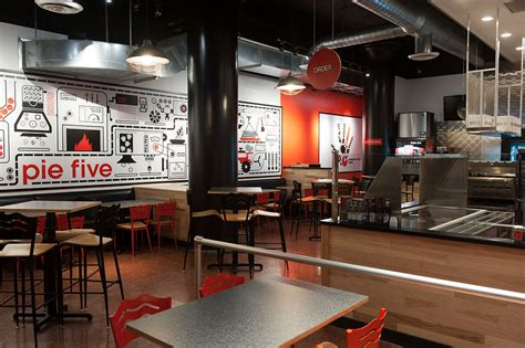 Five Interiors by Pie Five Pizza Expanding In Kansas City Area Missouri