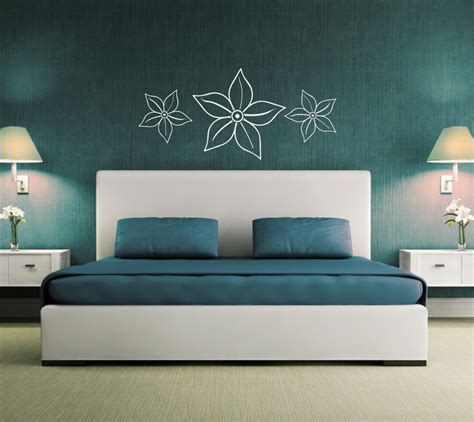 bed wall decor flower wall sticker above bed decor wall graphic decal