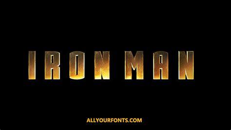 iron man font fonts