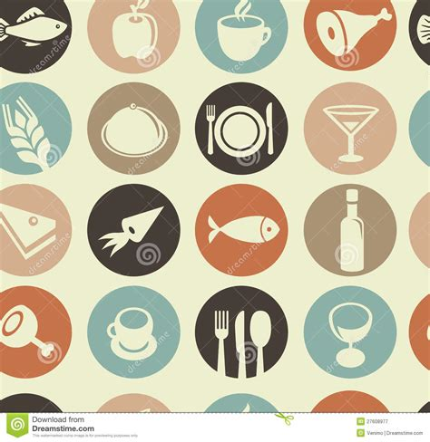 food pattern photography pattern with restaurant and food icons royalty free stock