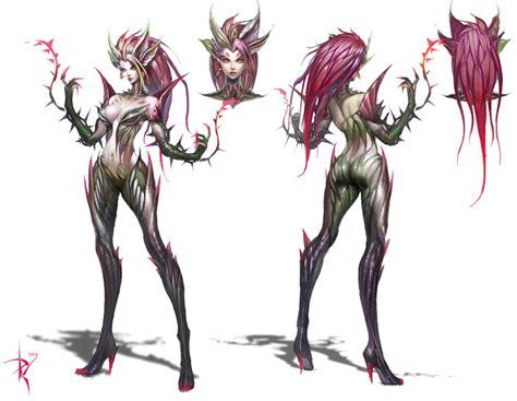 Lol Figure Karakter zyra character concept league of legends windows