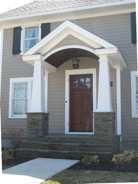 Front Door Porticos Details Make The Difference At The Front Door Your Home Color Coach
