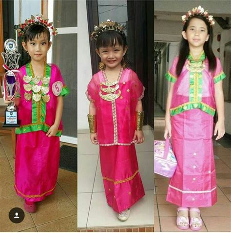 Baju Bodo Pakaian Adat Dari Daerah jual baju bodo pakaian adat bodho anak perempuan tk sd smp set lengkap ratu budaya