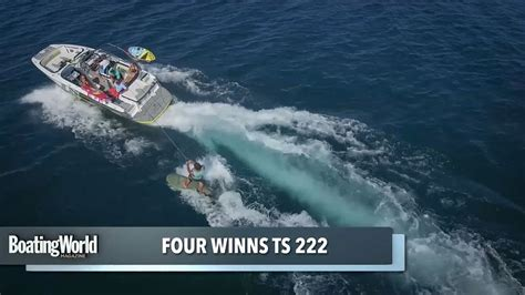 four winns boat test four winns ts222 boat test youtube