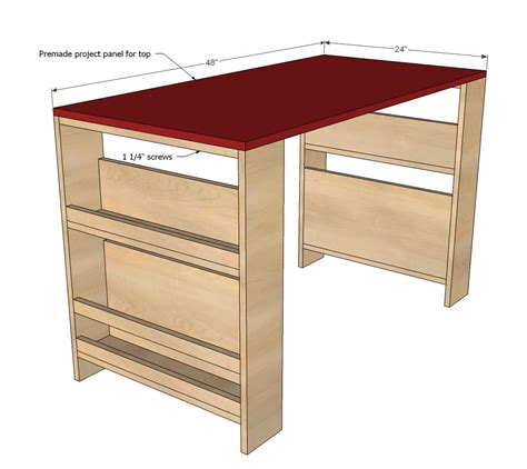 child desk plans free white storage leg desk diy projects