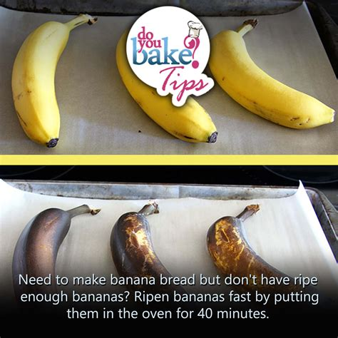 ripen bananas fast do you bake