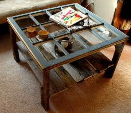 Antique Window Coffee Table Remodelaholic 100 Ways To Use Windows