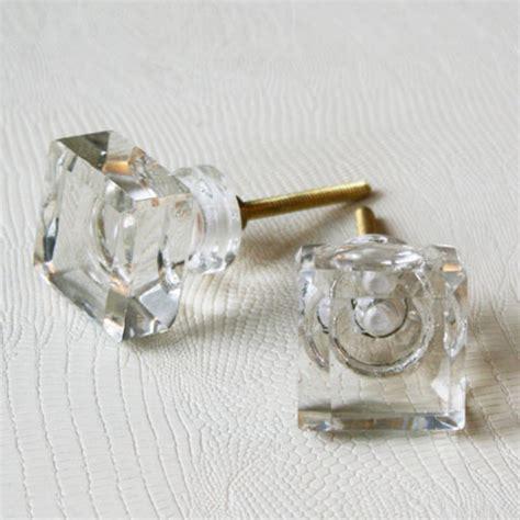 Glass Knob Hardware by Square Glass Door Knob Door Knobs Handles Graham Green