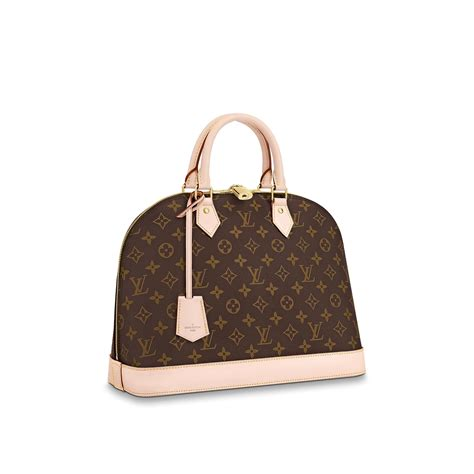 alma mm monogram canvas handbags louis vuitton
