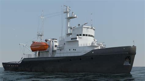 tugboat dwg tugboat 745 3d model