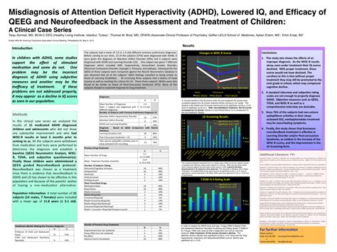 Research Paper On Misdiagnosis Of Adhd by Misdiagnosis And Diagnosis Of Adhd In Children