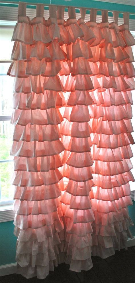 Coral Ruffle Curtains Best 25 Coral Curtains Ideas On Curtains Teal Utility Room Furniture And