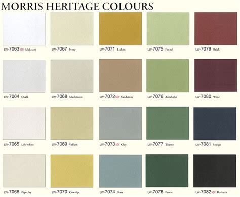 morris heritage colours heritage house colour