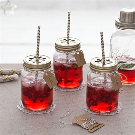 Decorating Ideas For Jelly Jars Jam Jar Cocktails With Retro Straws Garden