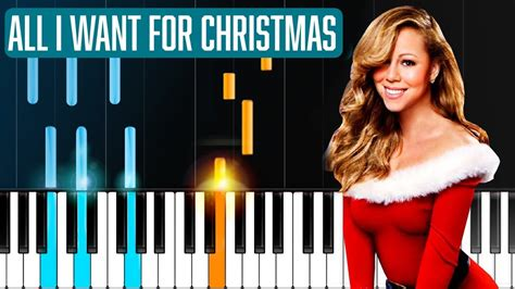 how to play all i want for christmas minor key ft mariah carey quot all i want for christmas is you quot piano