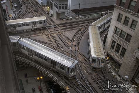 The Chicago L march 23 2018 three l rapid transit trains pass