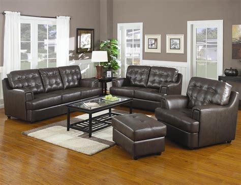 oak living room furniture sale hugo chocolate leather sofa loveseat set by coaster 502681 s