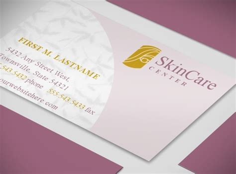 Business Cards Skin Care