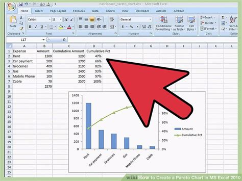 diagramme de pareto excel 2007 how to create a pareto chart in ms excel 2010 14 steps