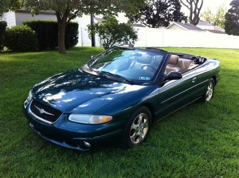 1999 Chrysler Sebring Jxi Convertible by Purchase Used 1999 Chrysler Sebring Jxi Convertible 2 Door