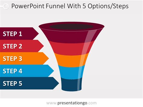 Colorful Powerpoint Funnel With 5 Options Funnel Graphic Powerpoint