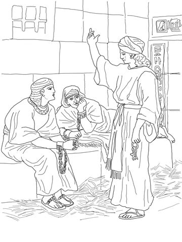Coloring Page Joseph And Potiphar S Wife Coloring Pages Joseph In Prison Coloring Pages