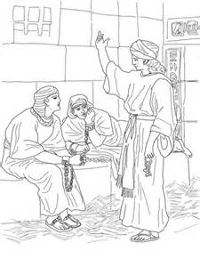 Joseph In Prison Coloring Pages coloring page joseph and potiphar s coloring pages
