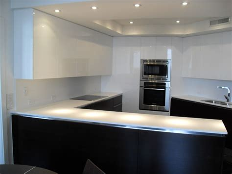 High Gloss White Dark Wood Kitchen Modern Kitchen European Style Modern High Gloss Kitchen Cabinets
