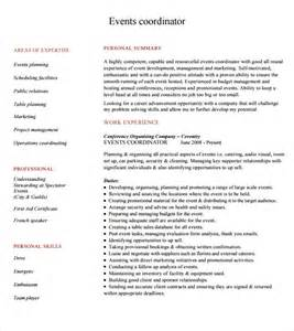 sample event planner resume 8 documents in pdf