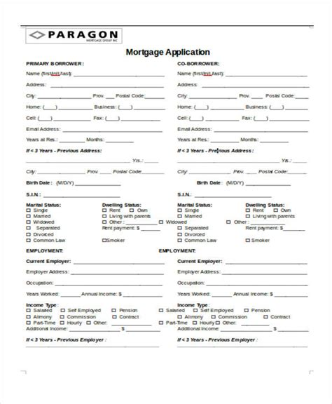 Loan Application Format by 9 Sle Real Estate Application Form Free Sle Exle Format