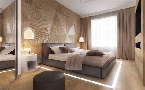 ideen fuer moderne schlafzimmergestaltung mit lamellenwand