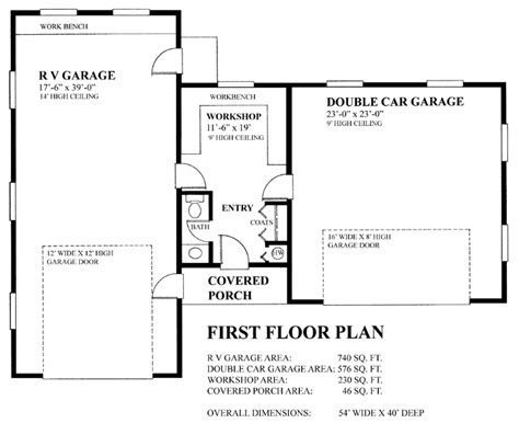 www coolplans com rv garage plans for cer motorhome travel trailer at