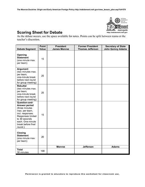 debate template open door policy sle
