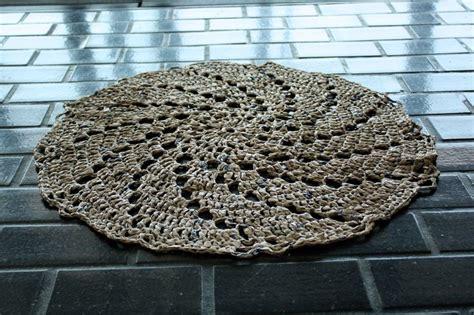 plastic bag crochet rug bag rugs crochet epattern free pattern rug patterns and