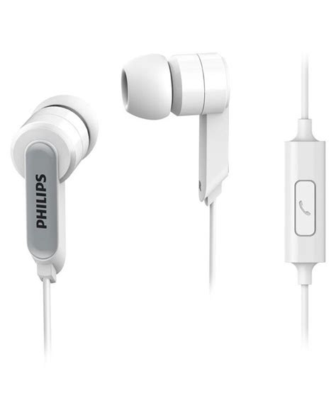 Earphone Philips In Ear With Mic She 3705 Original philips in ear headphone headset with mic she1405 94 white buy philips in ear headphone