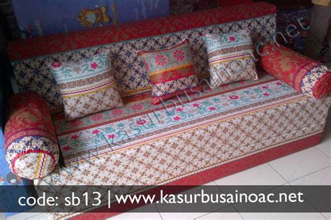Sofa Bed Lipat 1 Pcs Bantal sofa bed motif batik jual kasur busa inoac