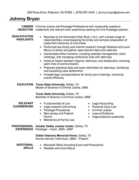 Criminal Paralegal Resume Sle Free Paralegal Resume Templates Personal Injury Litigation Paralegal Resume
