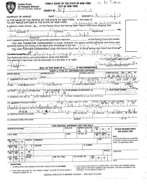 Federal Arrest Warrant Search Arrest Warrant Images
