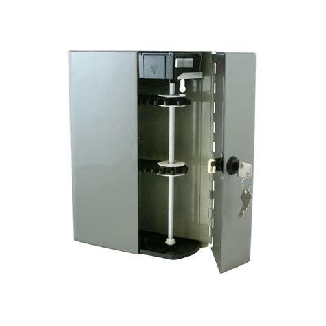 Key Organizer Cabinet by Key Box 4210 Lighted Motorized Locking 48 Key Lock Metal