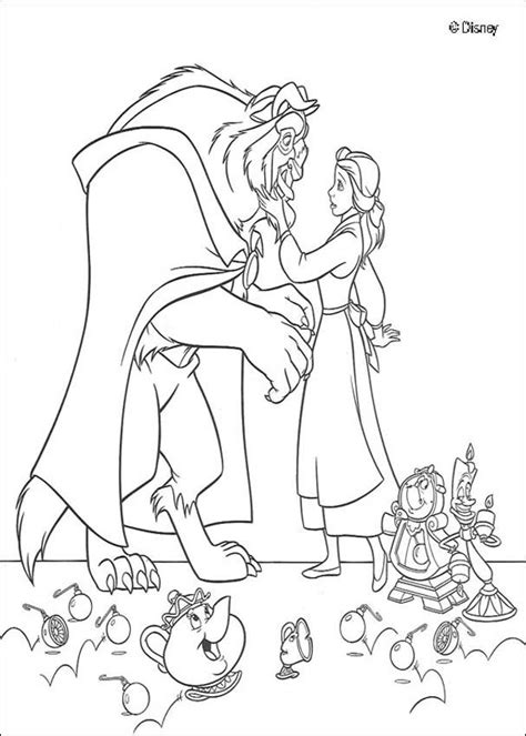 beauty and the beast coloring pages hellokids com