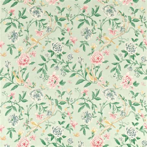porcelain garden fabric rose duckegg dcavpo203 sanderson caverley fabrics collection