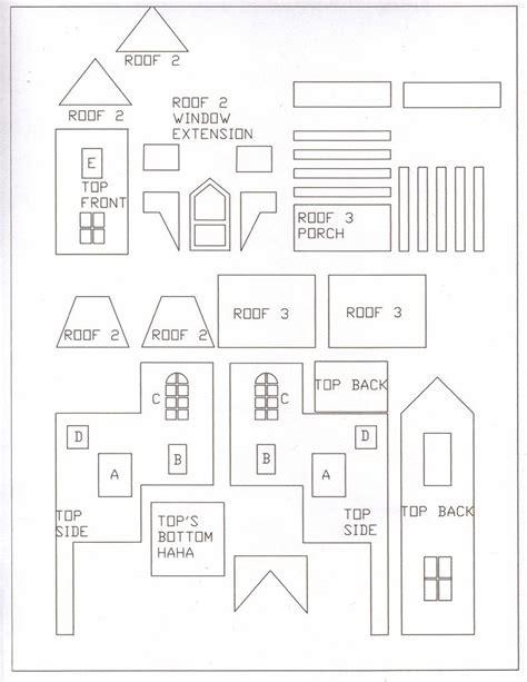 Gingerbread Castle Patterns Printable