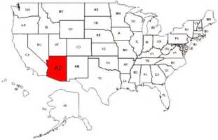 arizona map us