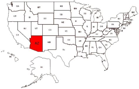 arizona state on us map arizona maps and data myonlinemaps az maps