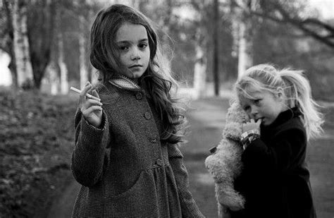 very young little girls smoking dianne takes a picture of two little girls who are smoking