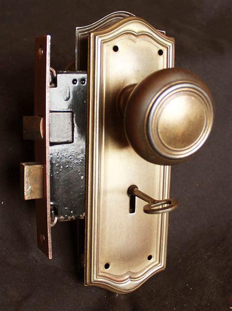 3avail cleaned antique brass steel interior door lockset